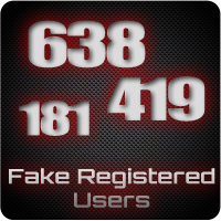 Fake Registered Users Icon